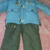 Детская зимняя куртка+ полукомбинезон. Фото 1.