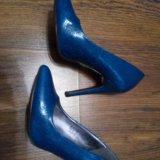 Туфли синие на шпильке. Фото 2. Воронеж.