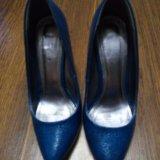 Туфли синие на шпильке. Фото 4. Воронеж.