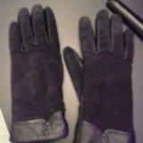 Кожаные перчатки женские. Фото 1.