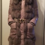 Зимний пуховик с мехом кролика. Фото 1. Москва.