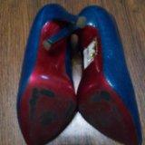 Туфли синие на шпильке. Фото 3. Воронеж.