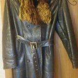 Кожаное зимнее пальто. Фото 1.