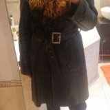 Кожаное зимнее пальто. Фото 2.