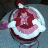 Детская зимняя шапка+шарфик. Фото 3. Сосновый Бор.