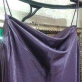 Вечернее атласное платье на тонких лямках. Фото 1. Туапсе.