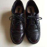 Женские ботинки лоуферы 46 р-р puul&bear. Фото 1.