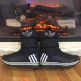 Дутики adidas, сапожки зимние. Фото 1.