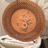 Декоративная тарелка из дерева. Фото 2. Санкт-Петербург.