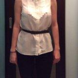 Белая рубашка с открытой спиной + ремешок. Фото 2.