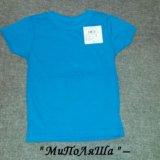 Новая однотонная футболка, 92-98. Фото 1. Москва.