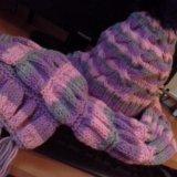 Шапка,шарф,варежки. Фото 1.