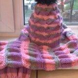 Шапка,шарф,варежки. Фото 2.