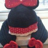 Шапка,шарф,варежки. Фото 3.