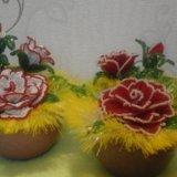 Цветы из бисера очень хороший подарок. Фото 2. Гатчина.