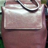 Модные кожаные сумки рюкзаки. Фото 2.