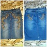 Юбка джинсовая. Фото 1. Сагопши.