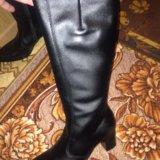 Зимние кожаные сапоги. Фото 1.
