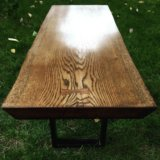 Кофейный столик из цельного слэба дуба. Фото 2.
