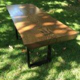 Кофейный столик из цельного слэба дуба. Фото 3.