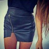 Новая кожаная юбка. Фото 1.