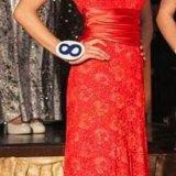 Красное платье в пол. Фото 2.