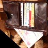 Мужской кожаный кошелек. Фото 2.