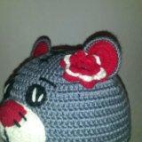 Вязаный комплект шапочка и шарф. Фото 2. Борзя.