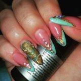 Наращивание ногтей. Фото 1. Астрахань.