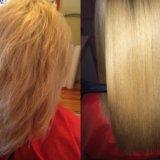 Горячее обертывание волос. Фото 2.