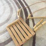 Качели деревянные. Фото 1.