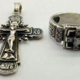 Крест и перстень из серебра 925. Фото 1. Ижевск.
