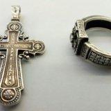 Крест и перстень из серебра 925. Фото 2. Ижевск.