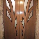 Двустворчатая межкомнатная дверь б/у. Фото 2. Набережные Челны.