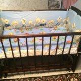 Детская кроватка + матрас + бортики. Фото 2.