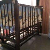 Детская кроватка + матрас + бортики. Фото 1.