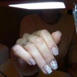 Маникюр покрытие гель лаком. Фото 2.