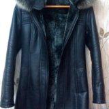 Продам кожаную куртку на натуральной цегейке. Фото 1.