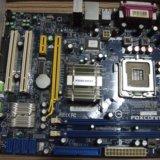 Материнская плата foxconn n15235 + процессор. Фото 1. Омск.