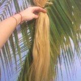 Натуральные волосы для наращивания блонд. Фото 1. Бор.
