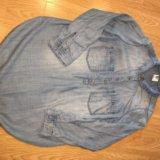 Рубашка джинсовая для беременных h&m. Фото 1.