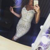 Платье кружевное белое. Фото 1. Красноярск.