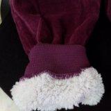 Вельветовые теплые штаны цвета баклажан. Фото 2. Кореновск.