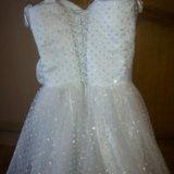 Нарядное платье .128-140 идеальное. Фото 2. Москва.