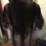 Шуба мутон. теплая с капюшоном. Фото 2. Москва.