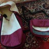 Переноска от детской коляски и сумка. состояние оо. Фото 1.