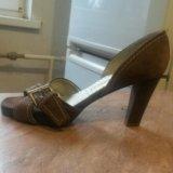 Туфли замшевые б-у. Фото 1.