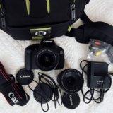 Фотоаппарат canon 600d 18-55mm+объектив canon. Фото 1.