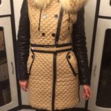 Зимнее пальто из эко-кожи. Фото 2.