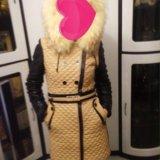 Зимнее пальто из эко-кожи. Фото 3.